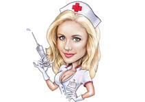 Sjuksköterska karikatyr example 1