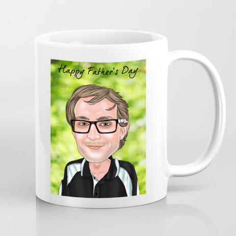 Customized Cartoon Print on Mug in Colored Digital Style - example