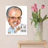 Canvas Print: Pencils Caricature Drawing for Father's Day Gift