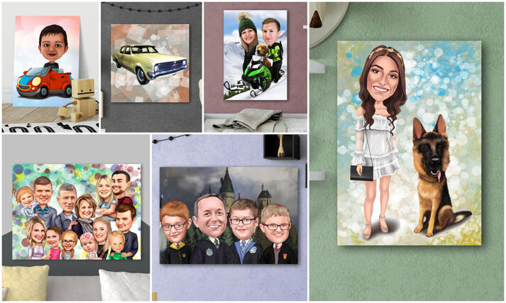 Canvas Caricature large example