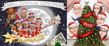 كاريكاتير العائلة عيد الميلاد