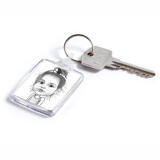 Baby Girl Caricature Printed on Keyrings