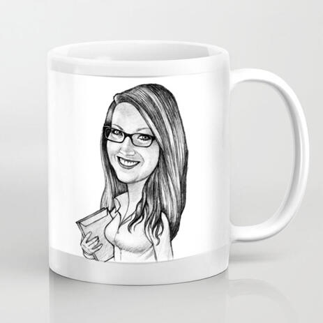 Custom Cartoon on Mug from Photo - example
