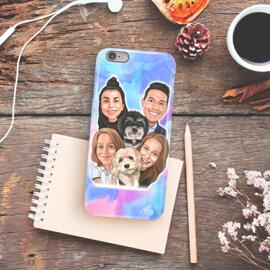 Caricature on Phone Case