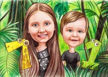 Kids Caricatures example 6