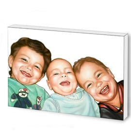 Kids Solid Caricature Print