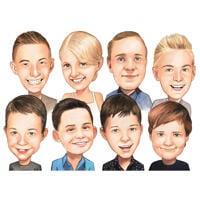مجموعة كاريكاتير أطفال المدرسة من الصور بأسلوب الألوان
