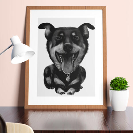 Dog Portrait Painting from Photos as 8x10 Poster Print - example