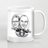 Couple Caricature on Coffee Mug