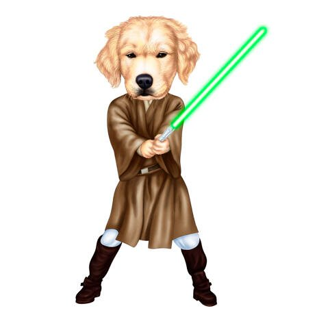 Dog Caricature for Star Wars Fans - example