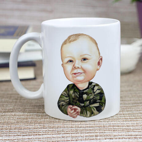 Toddler Caricature from Photos as Mug - example