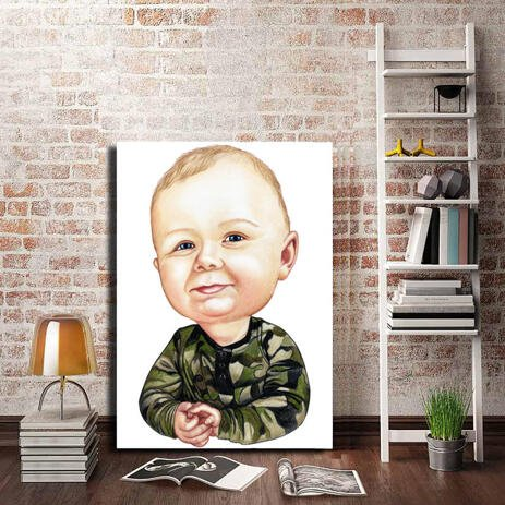 Toddler Caricature from Photos as Canvas - example