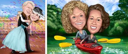 Hobby Couple Caricature