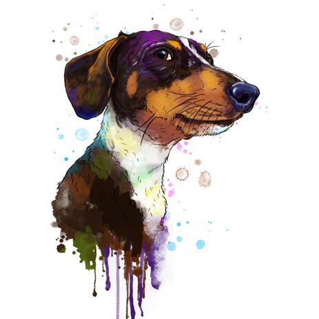 Acuarela perro pintura de fotos - example