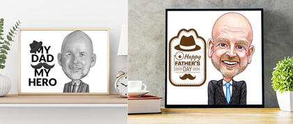 Father's Day Caricature Prints