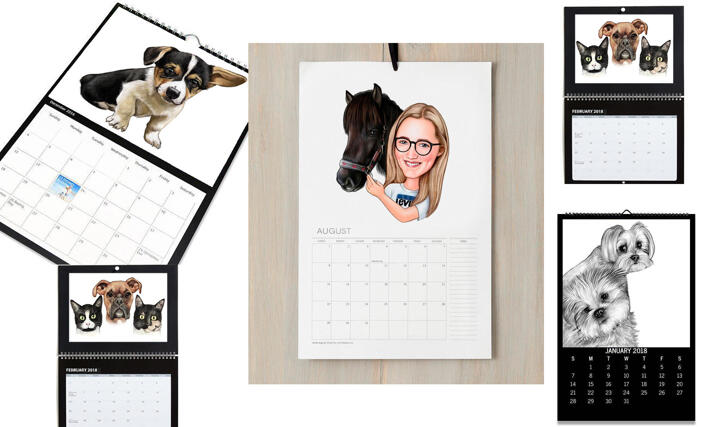Pet Calendar Caricature large example