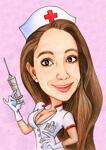 Enfermera caricatura example 4
