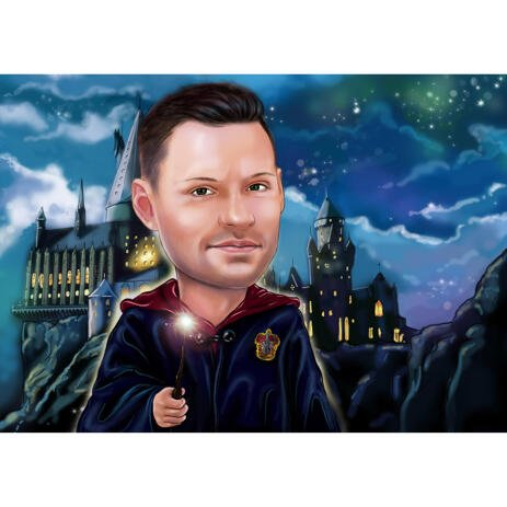 Custom Individual Caricature for Harry Potter Fans - example