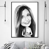 Bride Caricature from Photos on Poster