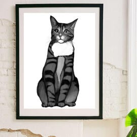 Cat Portrait from Photos on Poster