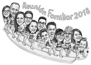 Family Reunion Caricature from Photos