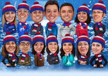 Christmas Group Caricature example 7