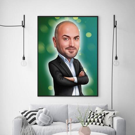 Caricature for Employee on Canvas - example