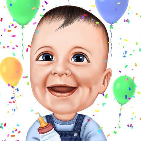 Kid Cartoon van foto's voor verjaardagscadeau - example