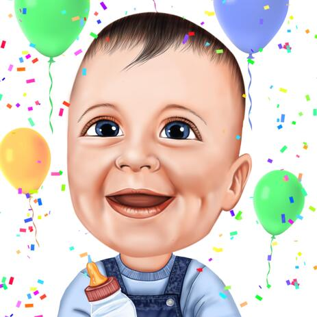 Kid Cartoon from Photos for Birthday Gift - example