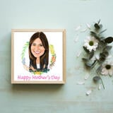 Print on Photo Paper: Cartoon Drawing from Photo in Colored Digital Style