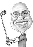 Caricatura da golf example 8