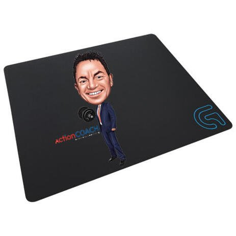 Employee Caricature on Mouse Pad - example
