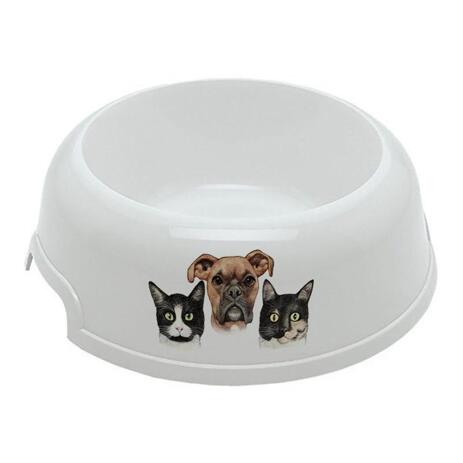 Group Pets Caricature Pet Bowl - example