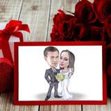 Wedding Caricature on Invitations