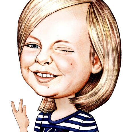 Funny Kid Caricature de photos dans le style de crayons - example