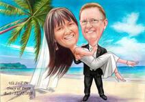 Bruiloft karikaturen example 2