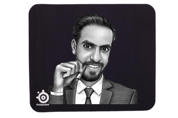 Corporate Portrait on Mouse Pad
