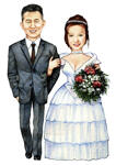 Bruiloft karikaturen example 15