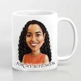 Print on Mug: Custom Print on Mug with Personalized Portrait Drawing