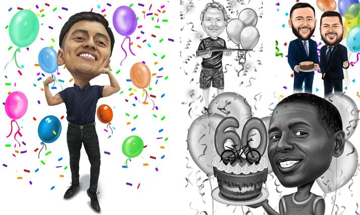 Boss Birthday Caricature large example