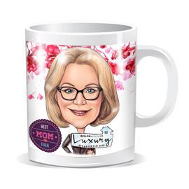Wrap-around Mug Print: Digital Caricature Drawing from Photo