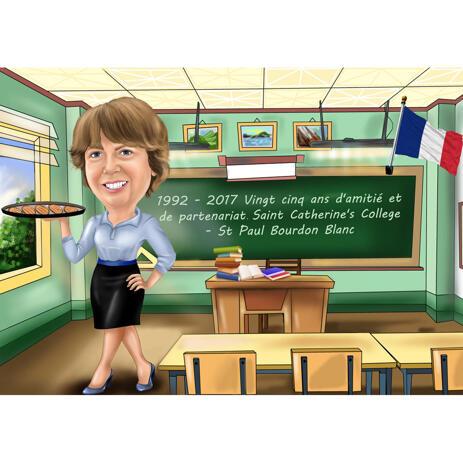 Custom Gift: Teacher in School Class - example