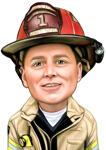 Firefighter Caricature example 2