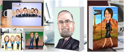 Business Caricature Block