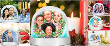Caricature Snow Globe