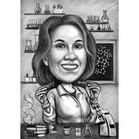 Химики рисовали нестандартную карикатуру из фотографий с фоном