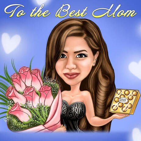 To The Best Mom - Personalized Caricature Gift Idea for Mother - example