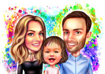 Family Caricatures example 9