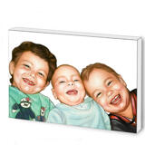 Brothers Caricature from Photos as Photoblock