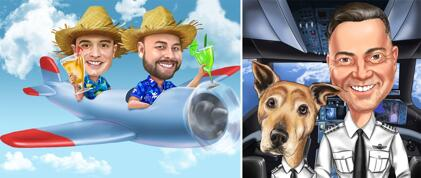 Piloot karikatuur